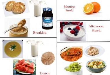 1400 Calorie Diabetic Meal Plan -Saturday
