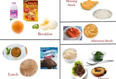 1600 Calorie Diabetic Diet Plan- Monday