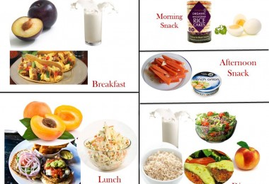 1600 Calorie Diabetic Diet Plan - Sunday