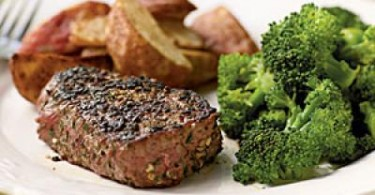 Filet Mignon With Fresh Herb & Garlic Rub