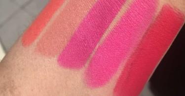M.A.C Lipstick Swatches